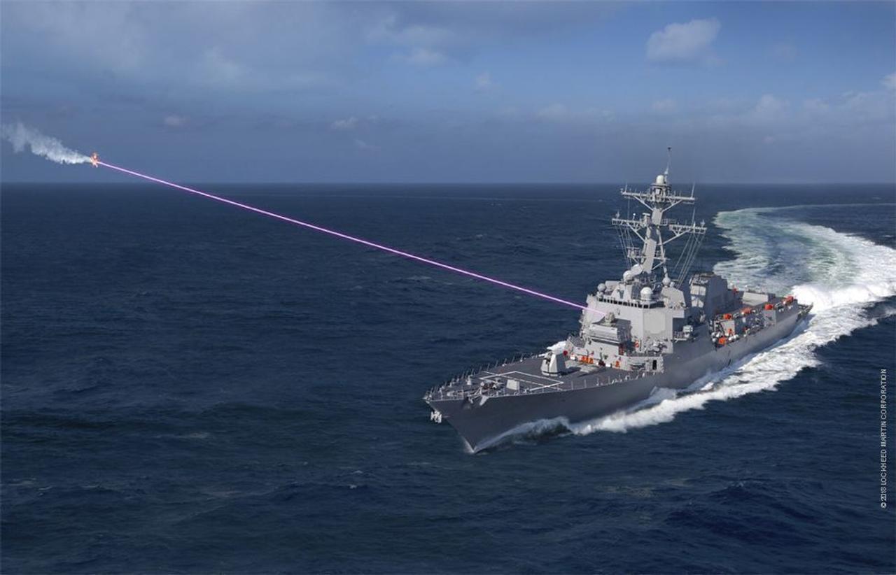 ВМС США будет использовать лазерное оружие для уничтожения воздушных целей