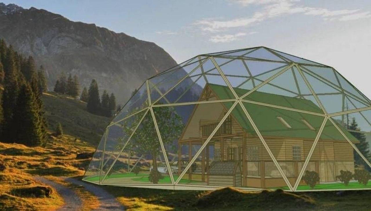 В Якутии, зонах вечной мерзлоты, дома будут накрывать стеклянными энергосберегающими куполами