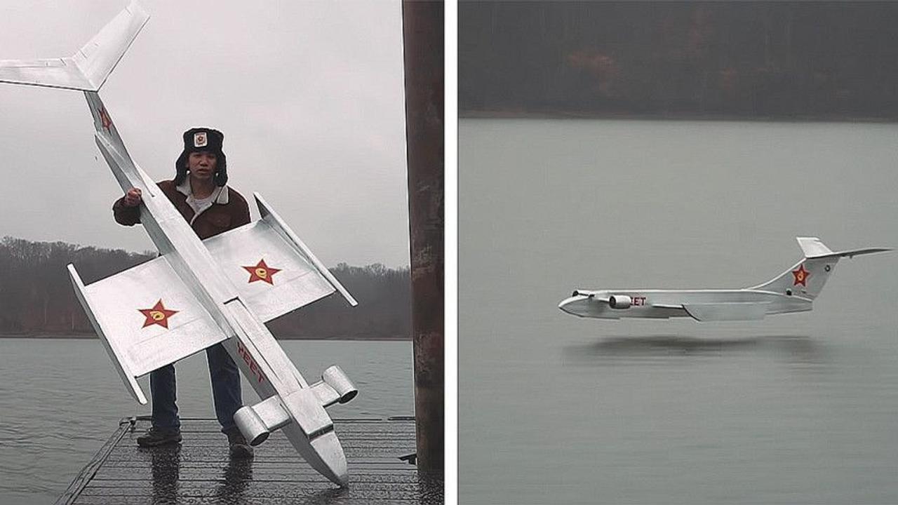 Питер Сриполь построил рабочую модель Экраноплана КМ - «Каспийского морского монстра»