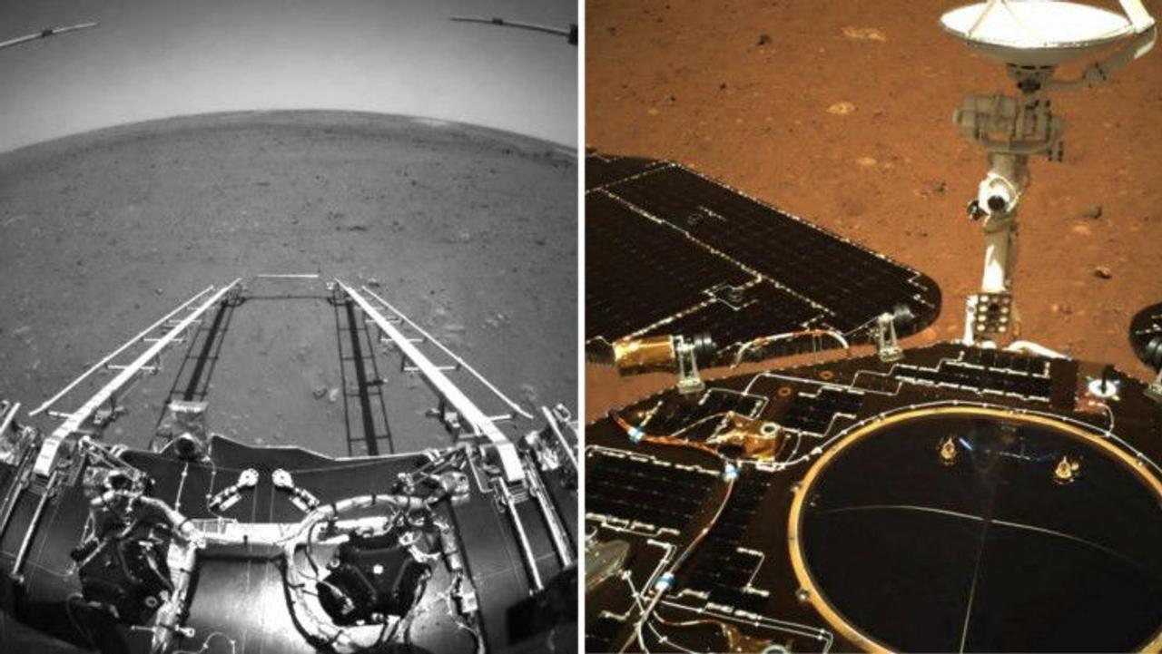 Китайский марсоход Zhurong сделал первые снимки Марса