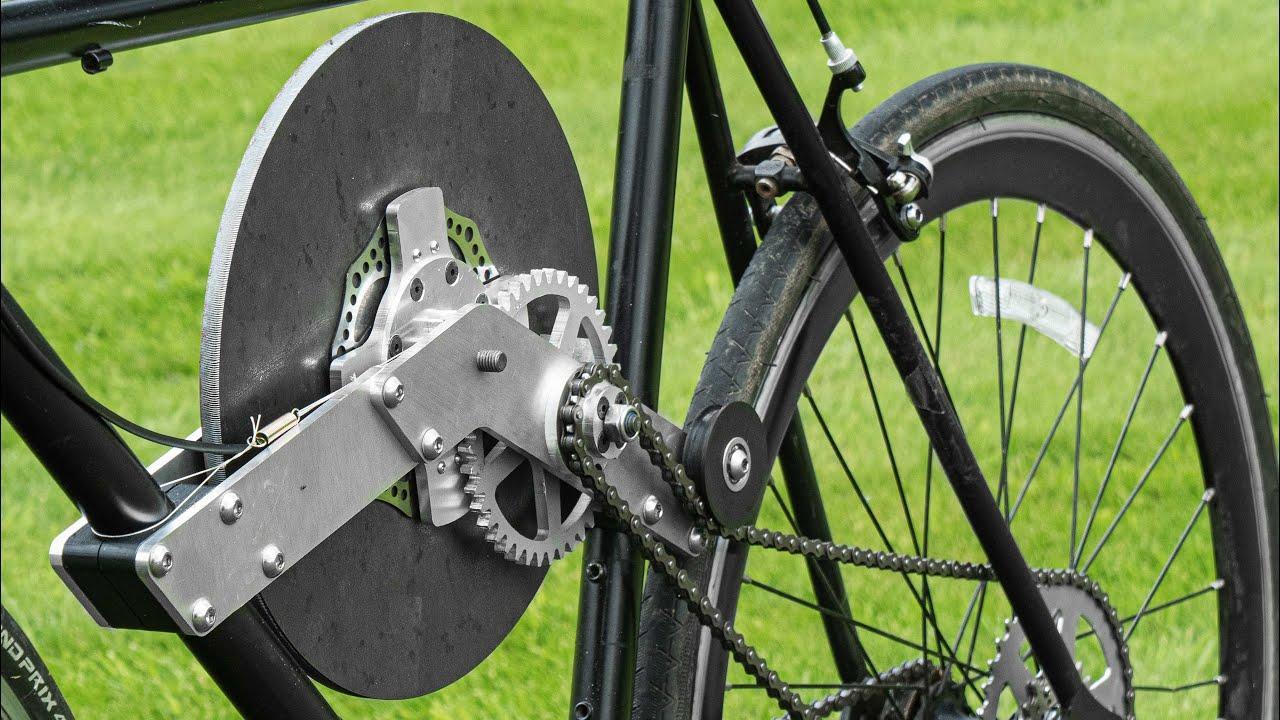 Инженер создал велосипед с системой рекуперации кинетической энергии маховика
