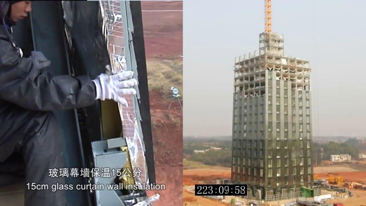 Китайская строительная компания построила 30-этажный отель всего за 15 дней