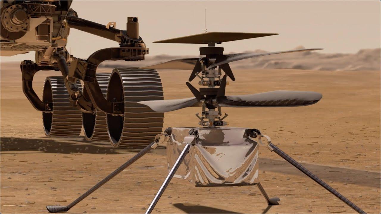 NASA объявила о планах запуска управляемого вертолета Ingenuity на поверхности Марса