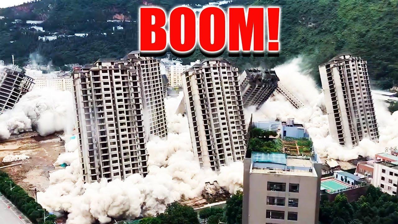 Как за 45 секунд одновременно снести 15 небоскребов? Опыт Китая