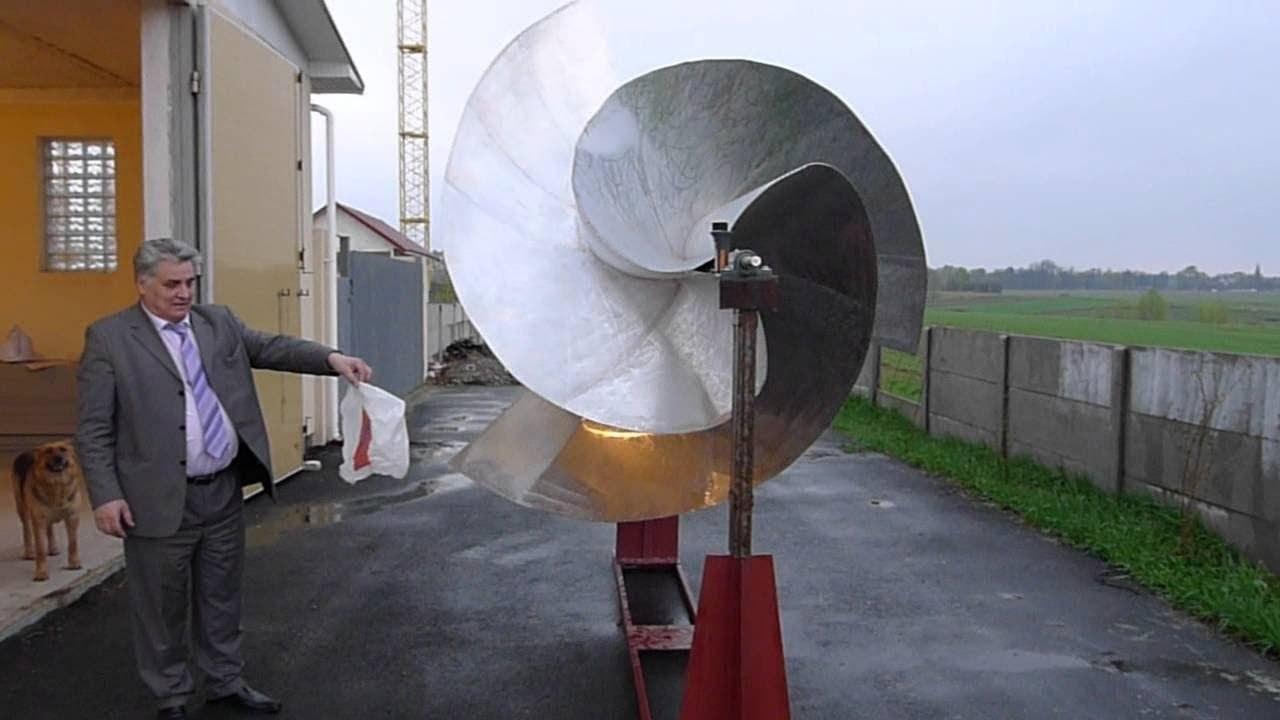 Высокоэффективный ветроротор Алексея Онипко производит электроэнергию даже при слабом ветре