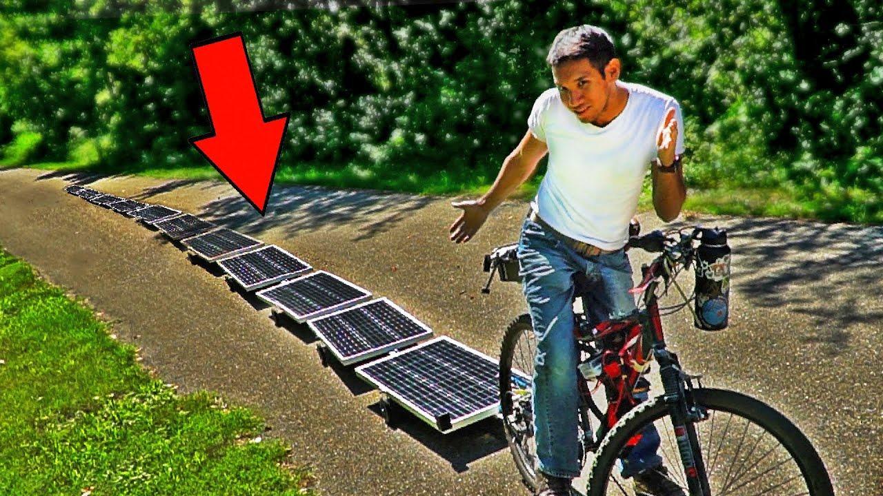 Инженер создал электровелосипед, работающий от солнечной энергии, с неограниченной мощностью