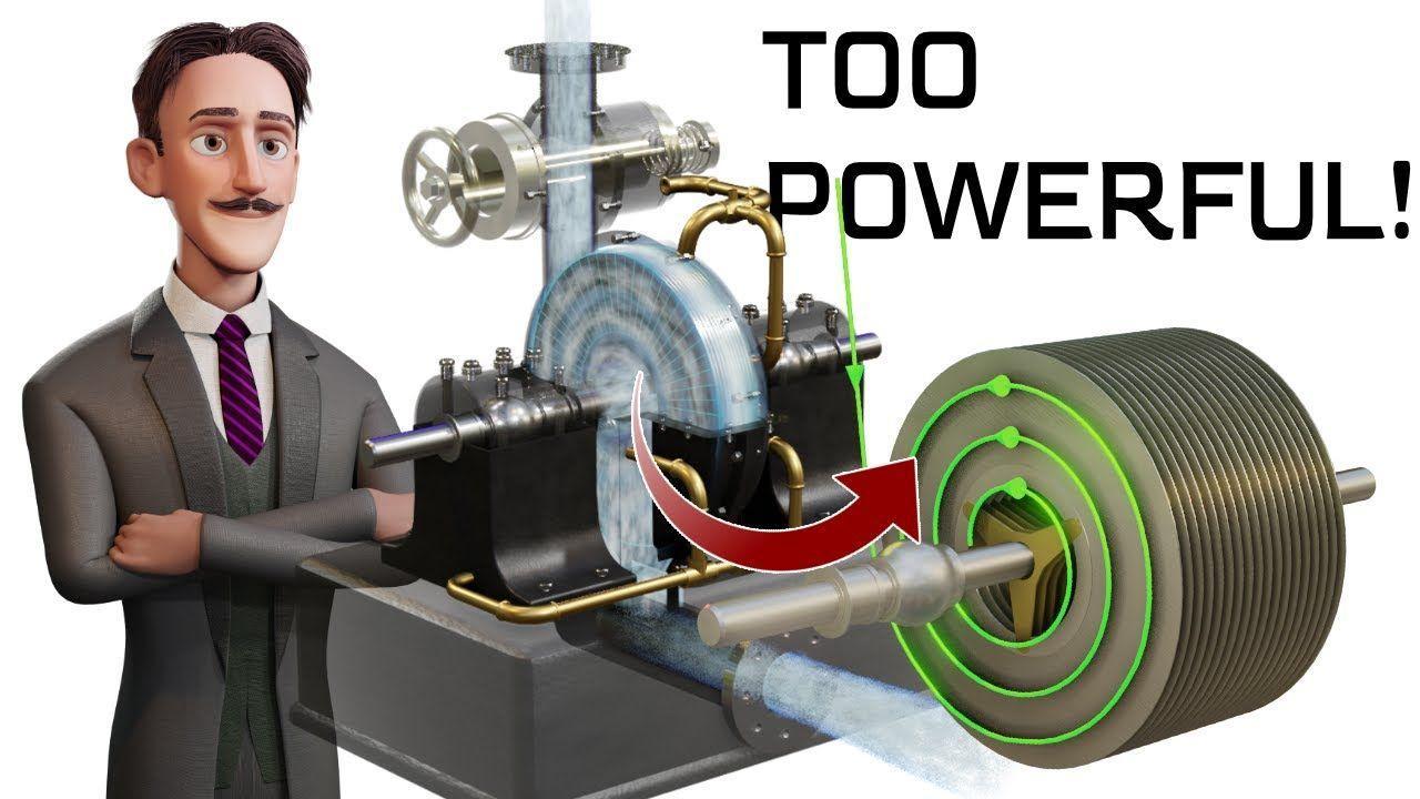 Инженерия, лежащая в основе безлопаточной турбины Теслы