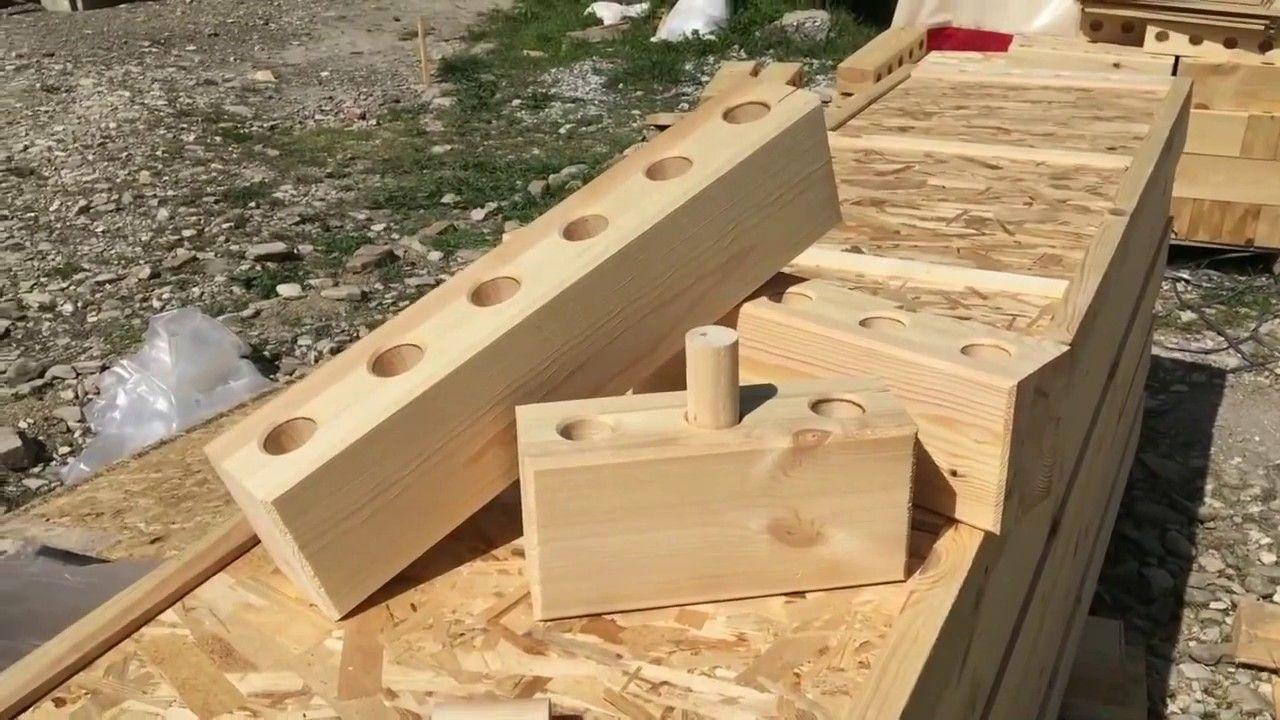 Строительство дома из деревянного лего - блока, быстро и экологично