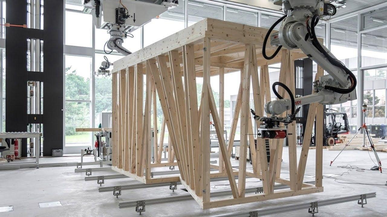 Робот DFAB House заменит целую бригаду строителей при возведении деревянного дома