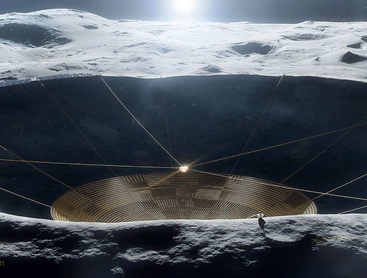 NASA построит радиотелескоп на обратной стороне Луны