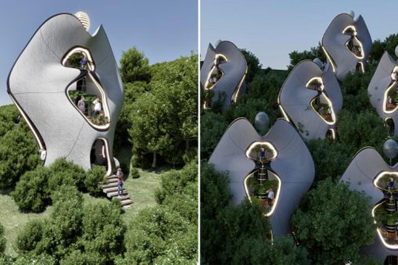 Компания MASK Architects спроектировала первую в мире стальную 3D-печатную конструкцию модульных автономных домов
