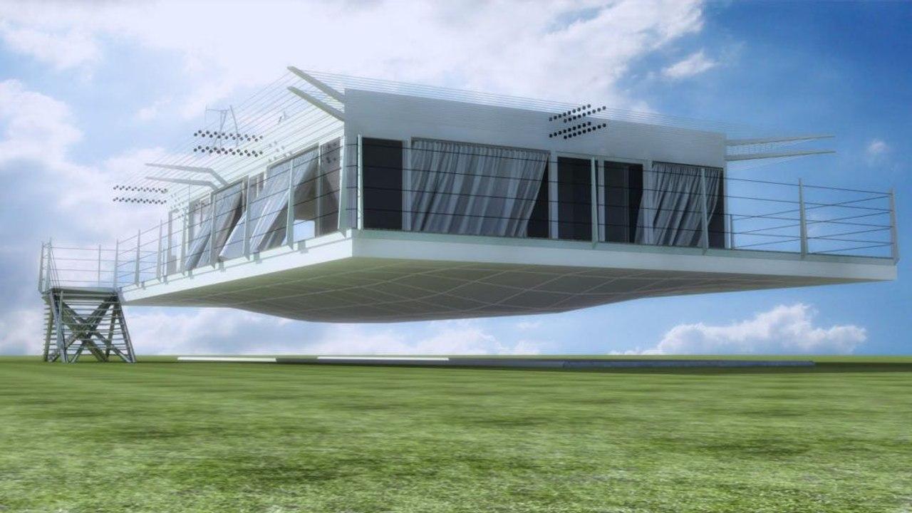 Дома японской компании Air Danshin Systems Inc. способны летать над землей