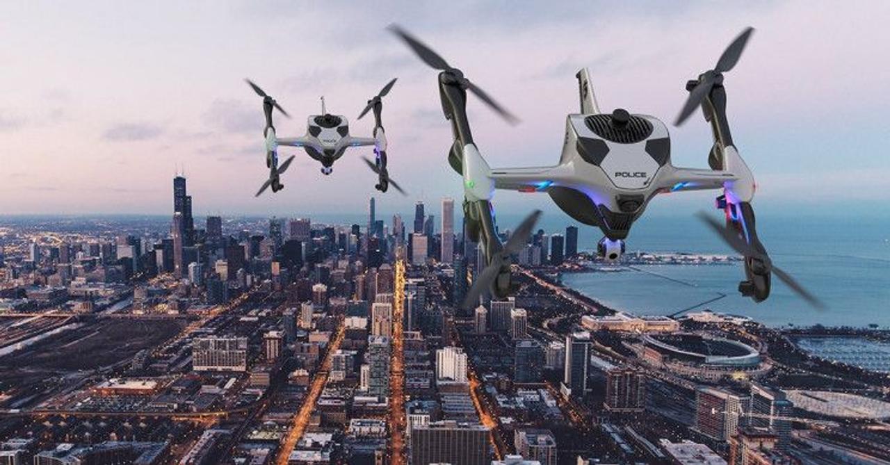 Новый дрон быстрого реагирования Recruit может перезаряжаться в полете и первым прибудет на место аварии или пожара