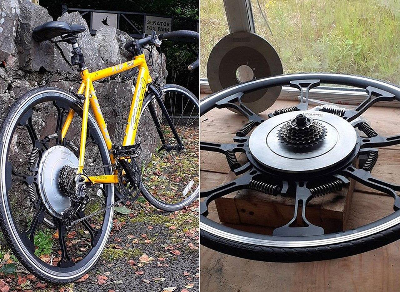 SuperWheel создал альтернативу электрическим велосипедам