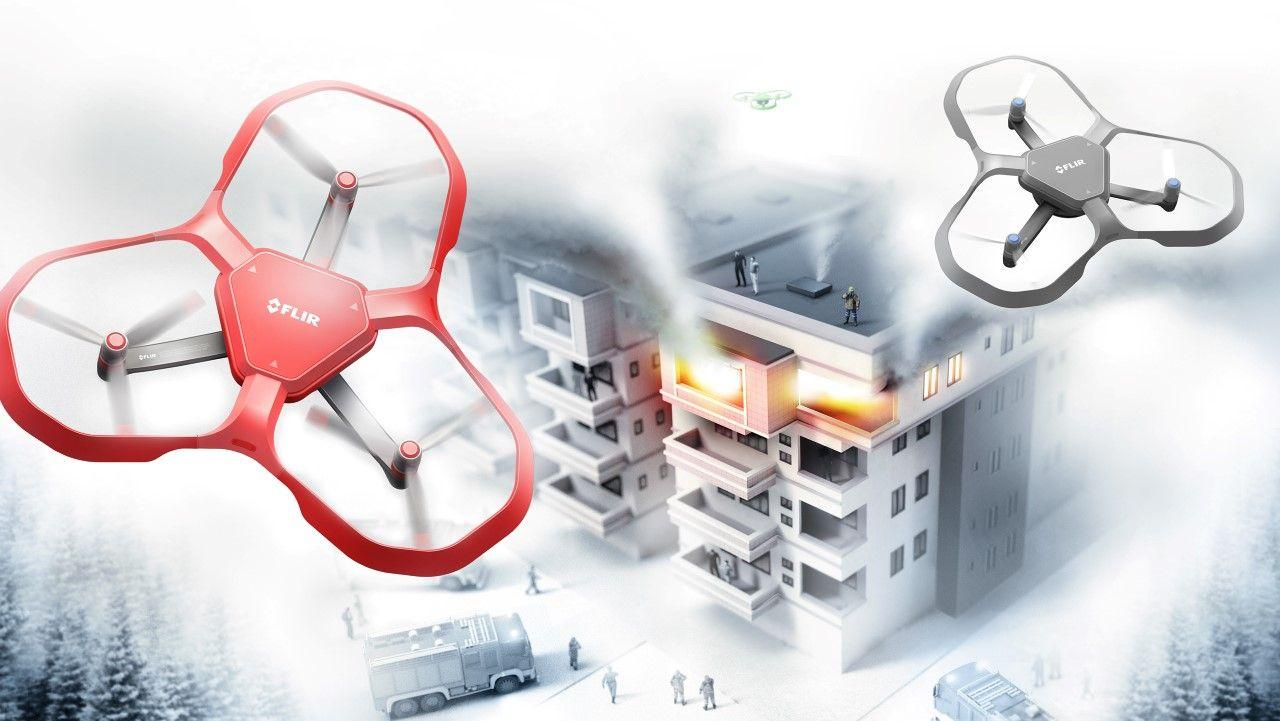 Тепловизионный дрон Prophet поможет пожарным быстро обнаружить источник возгорания в здании и определить пути эвакуации