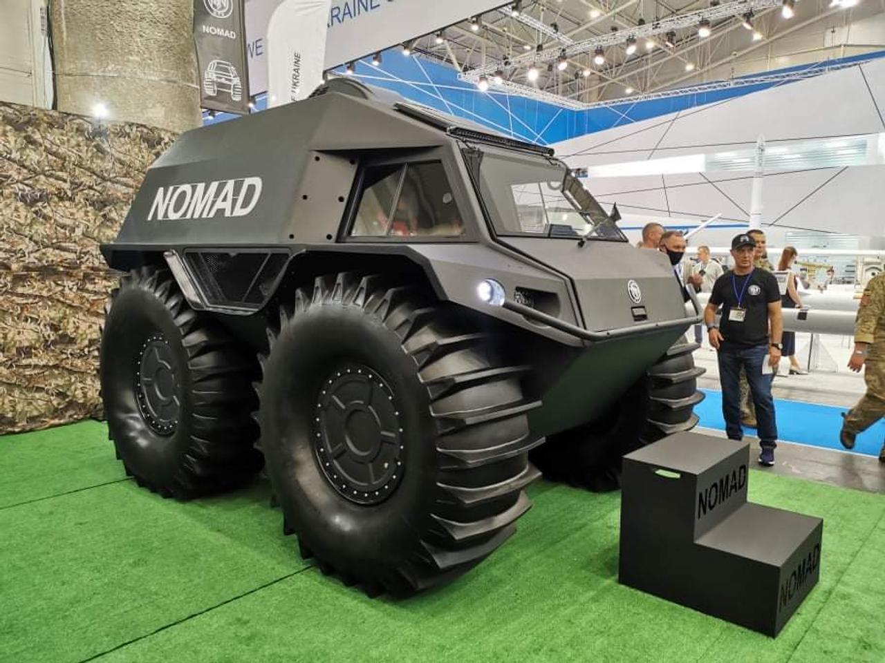 Колесный вездеход «Nomad» преодолеет как любое бездорожье, так и водную стихию