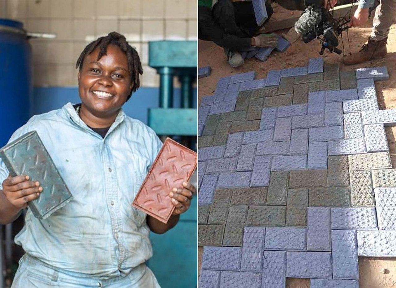 Инженер из Кении превращает пластиковые отходы в кирпичи, которые в 7 раз прочнее бетона