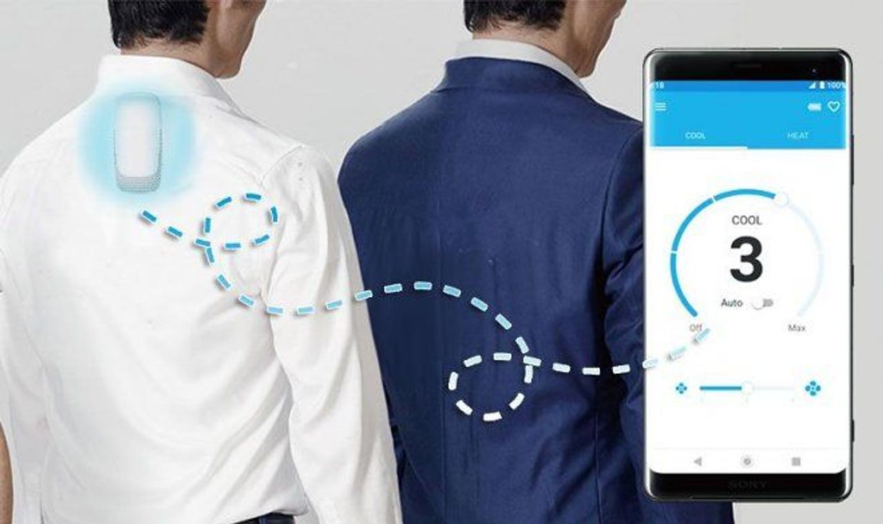 Персональный, носимый кондиционер Reon Pocket 2, охладит вас и обеспечивает защиту от пота