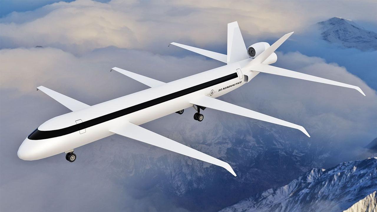 Реактивный самолет SE200, с тремя парами крыльев, снизит расход топлива на 70%