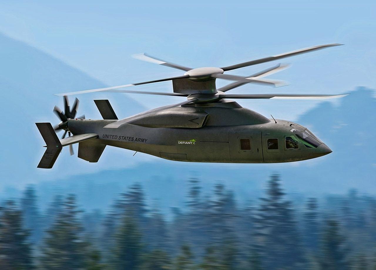 Sikorsky и Boeing представили усовершенствованный штурмовой вертолет DEFIANT X