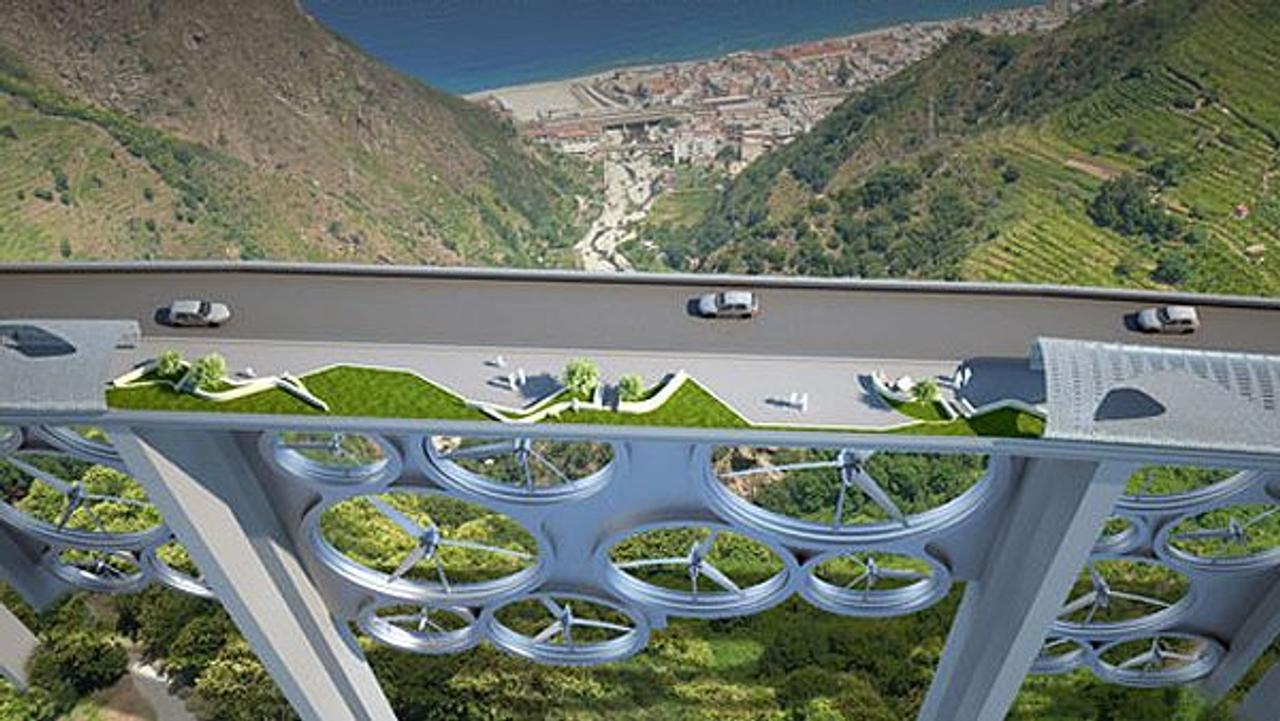 Итальянские дизайнеры предложили использовать мосты для производства энергии при помощи ветряных турбин