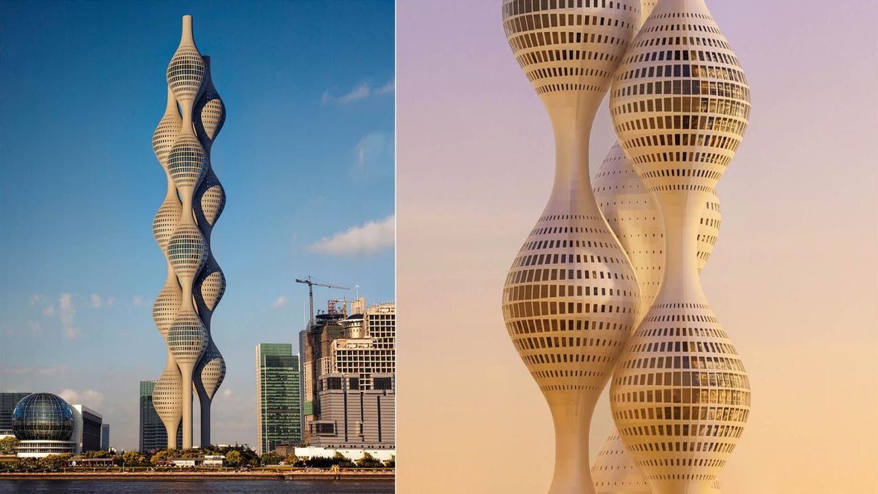 Сплетение башен Ternary Tower в Китае, как символ бесконечности - новый взгляд на будущее архитектуры