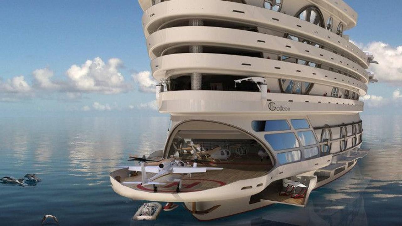 Футуристическая парусная яхта The Galleon - плавучий супер отель для комфортабельного отдыха