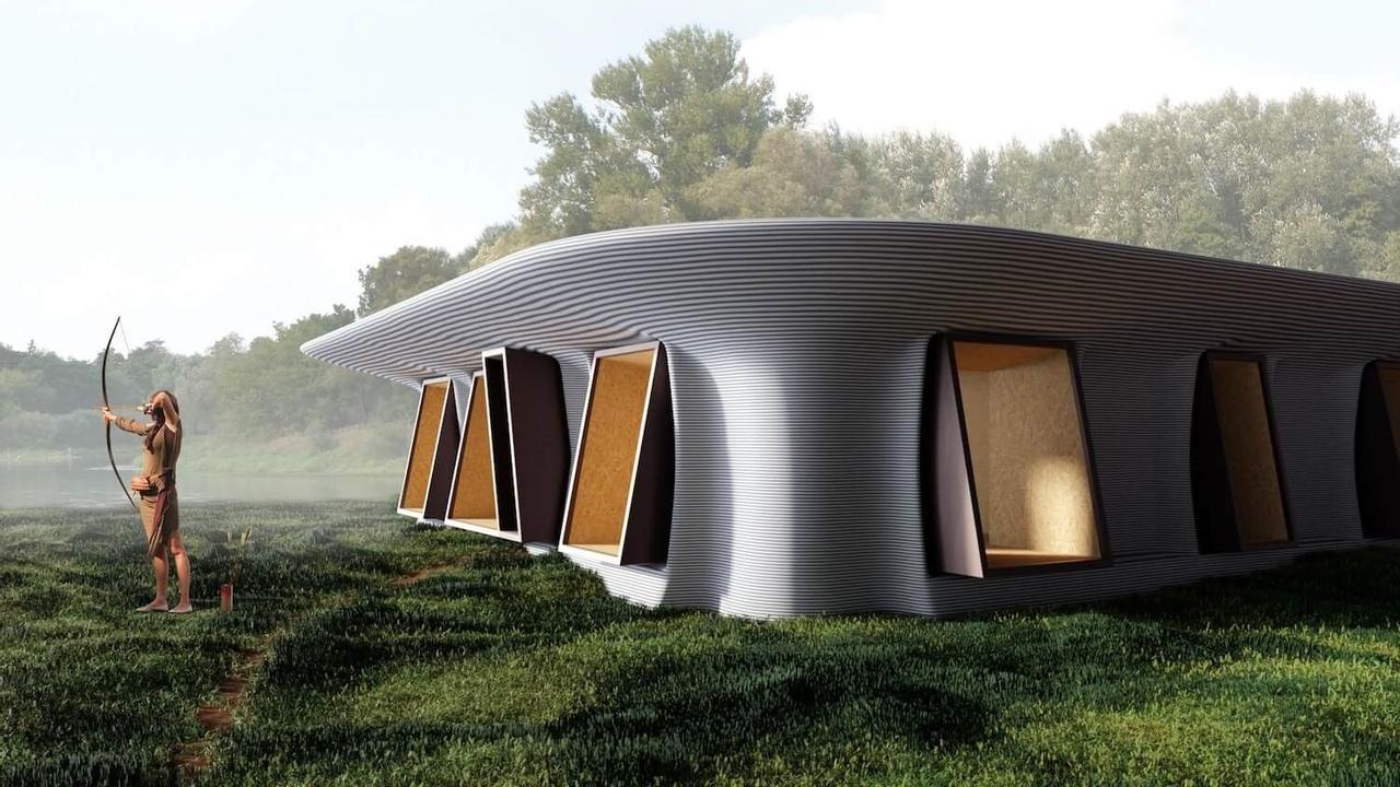 Дом «ловец дождя» The Rain Catcher, из экспериментальных материалов, полностью самодостаточный и пригоден для комфортной жизни