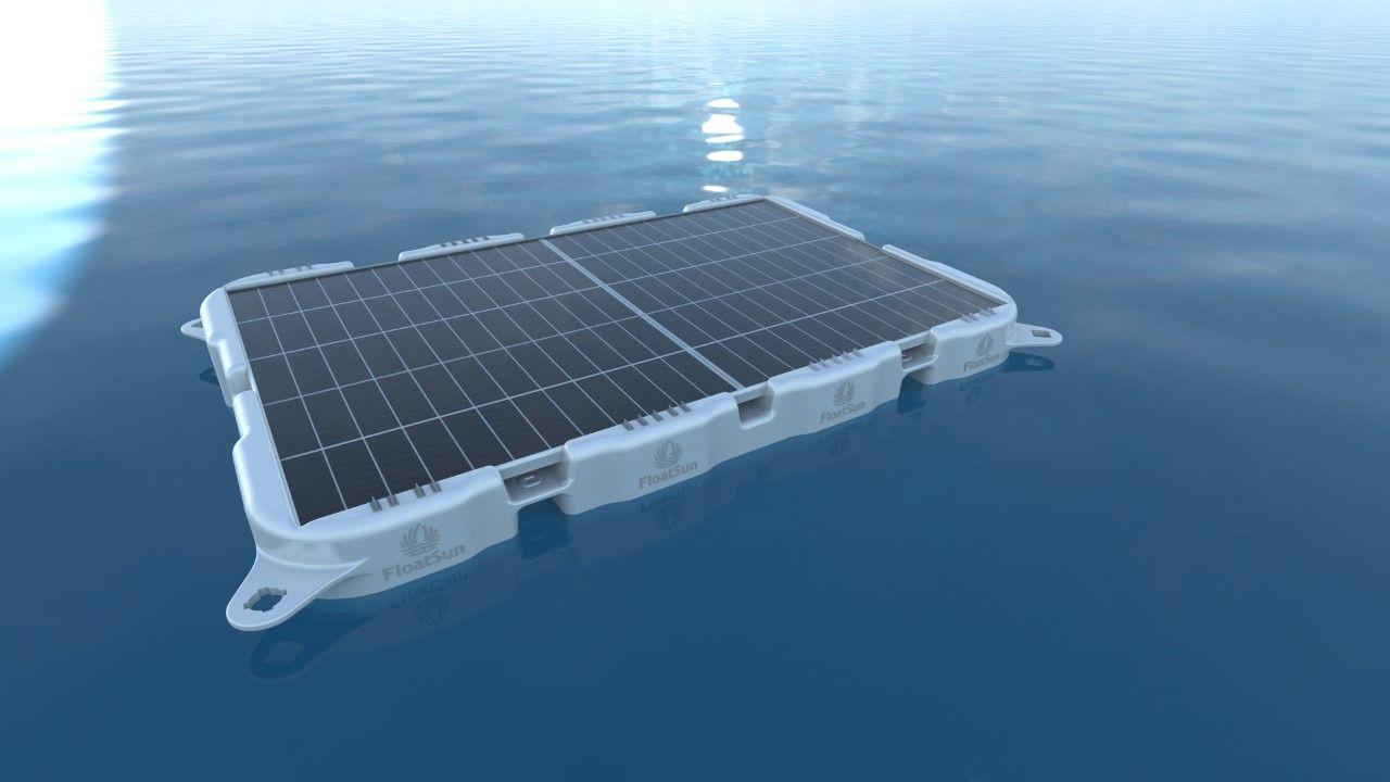 Аэродинамическая плавающая конструкция для солнечных модулей имеет эффект водяного охлаждения и увеличивает выходную мощность