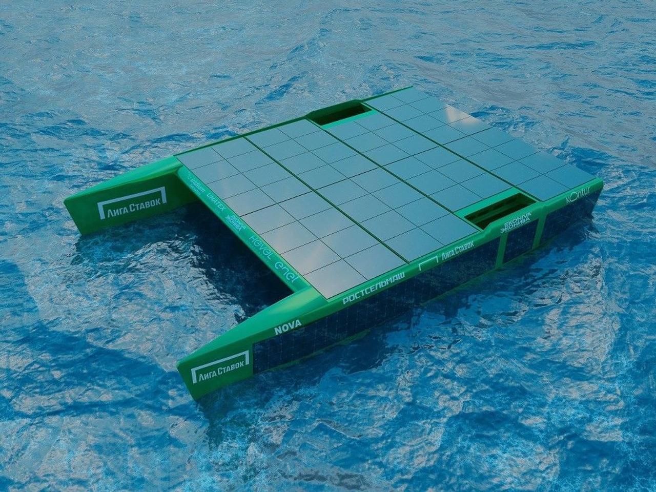 Уникальный катамаран для дальних экспедиций, на 100% работает от солнечной энергии