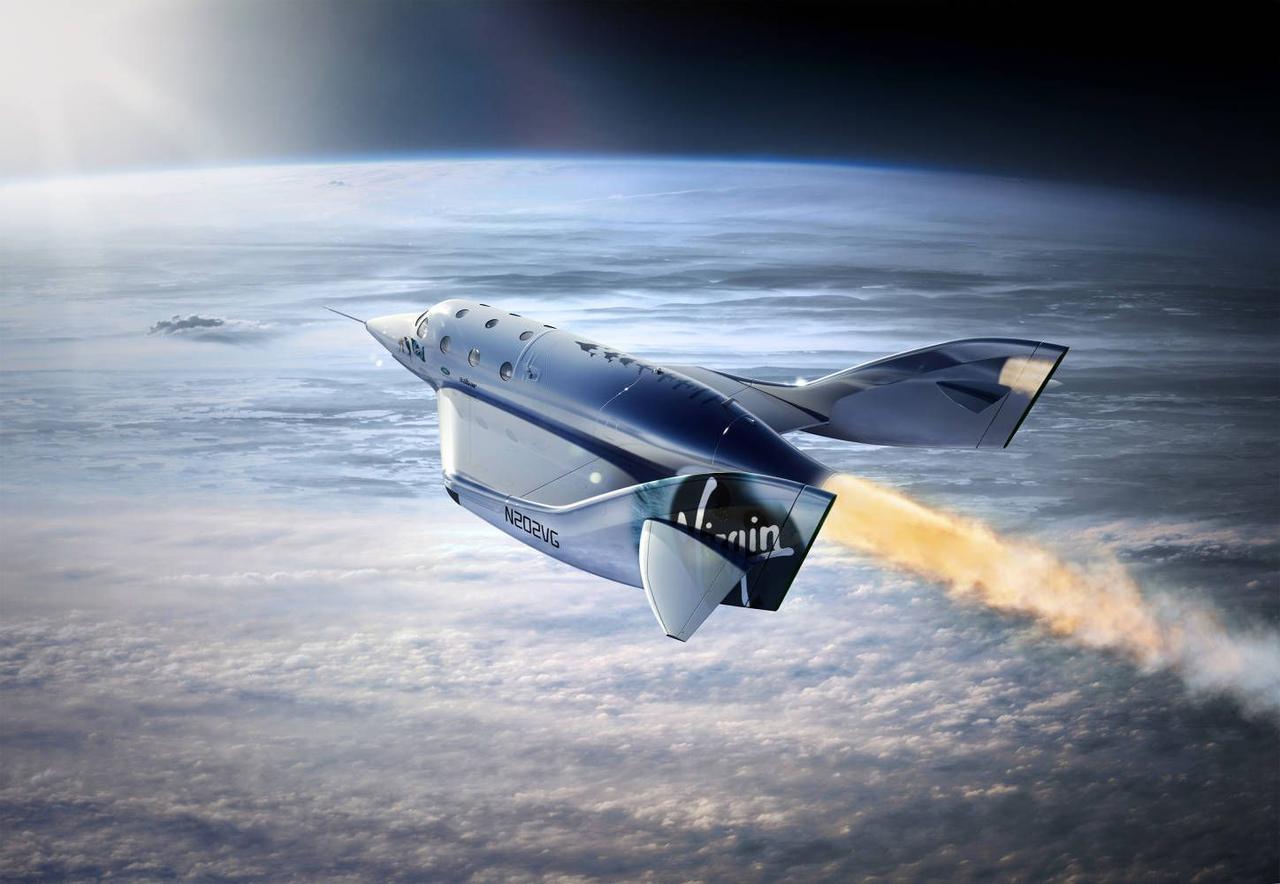Космический корабль VSS Unity Virgin Galactic совершил первый полет в космос