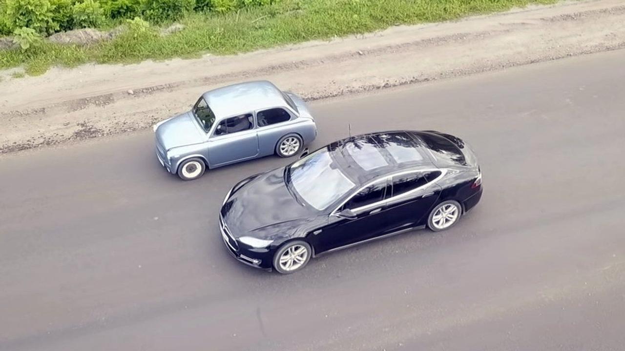 Электрический «Запорожец» разогнался до сотни всего за 4.5 с и обогнал Tesla Model S